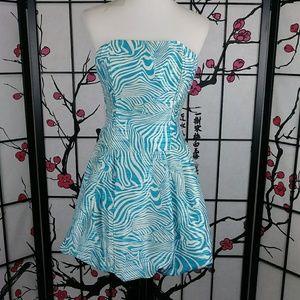 Vtg Jessica McClintock/ Gunne Sax Prom Dress Teal